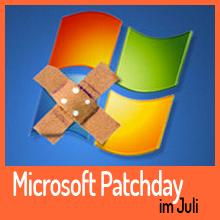 Microsoft Patchday im Juli