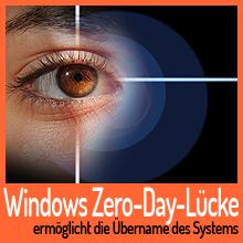 Windows Zero-Day-Sicherheitslücke ermöglicht die Übername des Systems