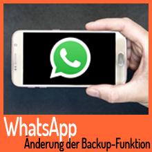 WhatsApp ändert seine Backup-Funktion im WhatsApp