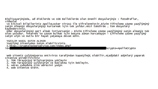 Turkish ApolloLocker Ransomware
