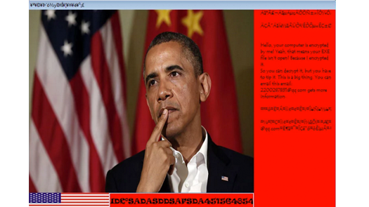 Barack Obama's Blackmail Virus Ransomware
