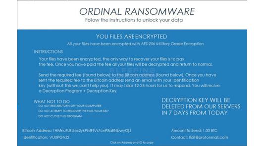 Ordinal Ransomware