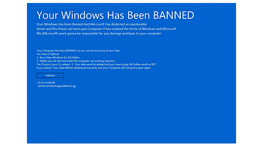 Windows Has Been Banned Ransomware