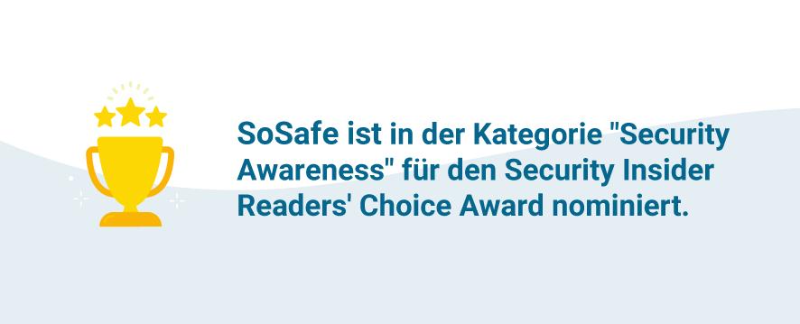 SoSafe ist für den Security Insider Award nominiert